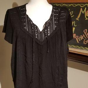Knox Rose peasant blouse XXL